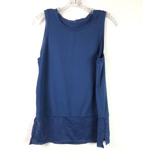 MARIKA | Blue Mesh Muscle Top No Size Maybe Med
